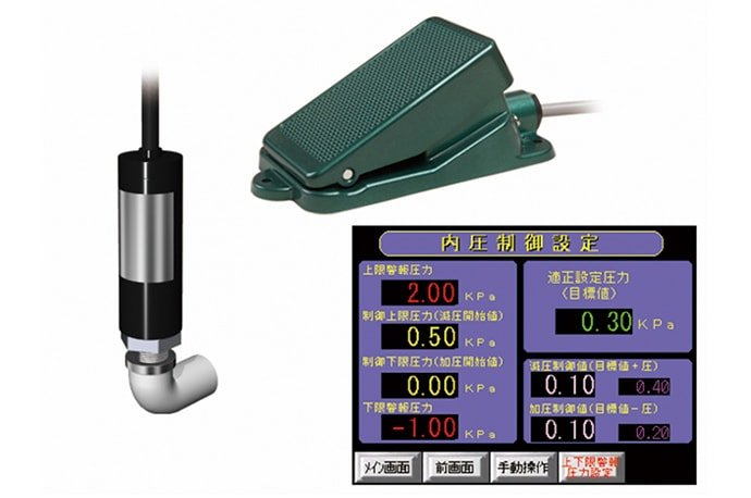 Automatic pressure controller with foot switch