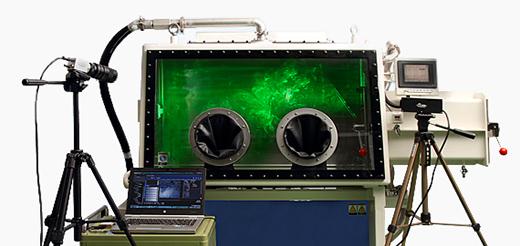 高速記録カメラ付き気流解析装置